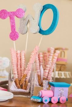 Ella's Girly Train 2nd Birthday Party #party #birthday #2
