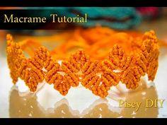 How to make macrame Zig Zag Herringbone Bracelet tutorial , Friendship DIY Projects - YouTube