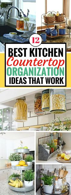 I always get easily frustrated when my kitchen countertop becomes messy and cluttered. Thankfully, these kitchen organization ideas really are life changing! Not only do they work really well but they improved my kitchen decor by Kitchen Countertop Organization, Kitchen Countertop Materials, Kitchen Countertops, Kitchen Remodeling, Remodeling Ideas, Kitchen Countertop Storage, Countertop Decor, Kitchen Cabinets, Marble Countertops