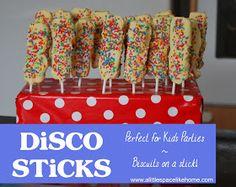 A little Space like Home: Recipe :: Kids Party Food ~ Disco Sticks