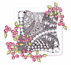#Zentangle inspired art by Paper Art Studio