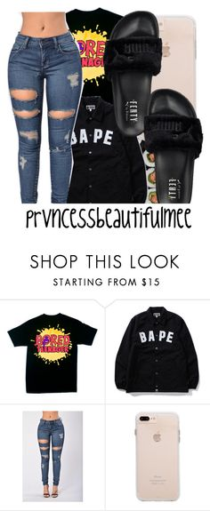 """""""10,000 followers !!! thanks !!"""" by prvncessbeautifulmee on Polyvore featuring A BATHING APE and Puma"""