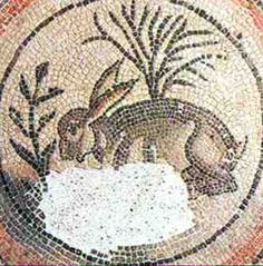 A bunny introduced to Britain by the Romans, a millennium or so before 1066 at Corinium Museum