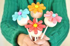 Cake Pops com Flores de Balinha - Passo a passo - Dicas pra Mamãe