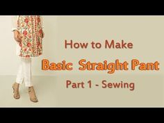 How to Make Straight Pants | Straight Pant Cutting!! - YouTube