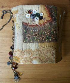 hidden treasures handmade handstitched book - front - rita summers