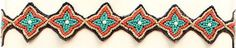 (MFW30634) Western Beaded Star Shaped Headband