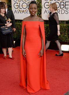 Lupita Nyong'o at the Golden Globes 2014
