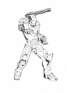 powerful iron man coloring page super coloring - Iron Man Pictures To Colour