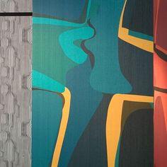 WALLPAPER LOVE STORIES #WallpaperInteriors - Una storia d'amore é fatta di passioni forti baci e colori vivaci. Come la nostra wallpaper Sans Tabù Shadow Kiss.  #WallpaperLoveStories #SansTabù #JVstore #JannellieVolpi #PVID2016 #MDW16 #Fuorisalone16 by sanstabu