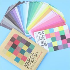 Candy color sticky note DIY planner stickers scrapbooking memo office stationZB
