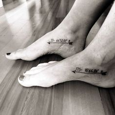 coordinates tattoo Ideas to Mark a Memory on Body (27)
