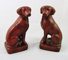 Pair of Labrador Retriever Dog Figurines by CrystalCoaster on Etsy