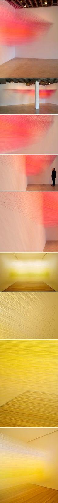 anne lindberg - thread installations