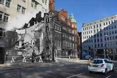 Then: Bomb damage caused by an air raid on Berkeley Square, London, on April 29, 1942. Now: The same scene in Berkeley Square, Mayfair, on May 1, 2016.