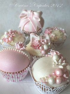 Pink & White Candy Cupcakes, pretty for a wedding