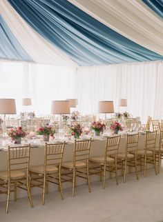 Blue And White Wedding With A Pop Of Color By Tara Guerard Photo Corbin