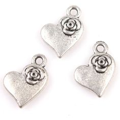 50pcs Charms Heart With Flower Antique Silver Alloy Charms Pendants Findings Fit Handmade Crafts Pendants http://www.amazon.co.uk/dp/B00HSVZU22/ref=cm_sw_r_pi_dp_5jDfub0FHXRYG