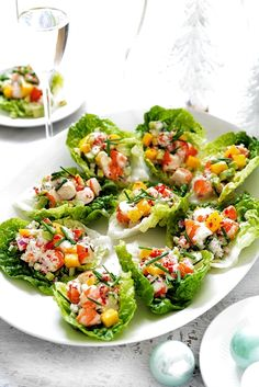 This easy avocado, mango and chilli prawn cups recipe is a light and easy starter recipe perfect for Christmas Day. This easy avocado, mango and chilli prawn cups recipe is a light and easy starter recipe perfect for Christmas Day. Cucumber Recipes, Lunch Recipes, Seafood Recipes, Appetizer Recipes, Salad Recipes, Cooking Recipes, Cucumber Appetizers, Easy Prawn Recipes, Salmon Appetizer