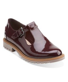 Another great find on #zulily! Burgundy Griffin Monty Patent Leather Mary Jane #zulilyfinds