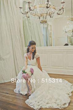 sexy mermaid wedding dresses | ... Mermaid-Half-Sleeve-Long-Train-Lace-Sexy-Bridal-Gowns-Wedding-Dresses