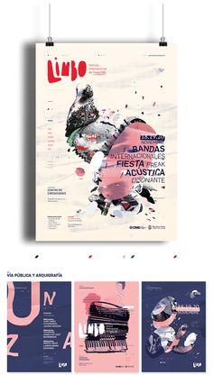 / Limbo / Festival de freak folk by Ro Gal, via Behance / Limbo / Festival der Freaks in Ro Gal, via Behance Poster Design Poster Art, Poster Design, Poster Layout, Graphic Design Posters, Typography Poster, Graphic Design Illustration, Graphic Design Inspiration, Poster Series, Design Brochure