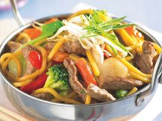 Beef and noodle stir-fry, beef recipe, brought to you by recipes+ #Easy #Asian #Noodles #Beef #Main