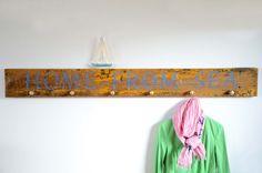 Treibholz-Wandgarderobe HOME FROM SEA ~ driftwood hook board