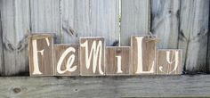 Decorative Block Letters / Home Decor / Wood by NicsLoveLetters, $30.00