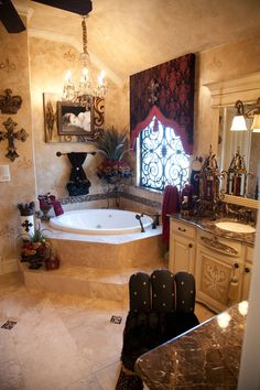 25 stunning bathroom designs tuscan design spanish and bath. Interior Design Ideas. Home Design Ideas
