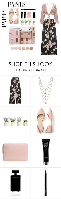 """""""fancy pants"""" by bahriiye ❤ liked on Polyvore featuring Rosamosario, Ettika, Allstate Floral, Narciso Rodriguez, MAC Cosmetics, Deborah Lippmann, contestentry and polyPresents"""