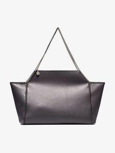 178d7c96c2 grey Falabella Fine Chain medium faux leather tote bag. Stella McCartney ...