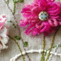 linen pink flowers in vase