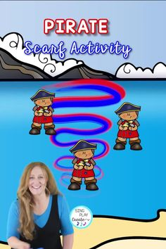 Ahoy Me Hearties! This here be the gold treasure fer ye matey's. A PIRATE Scarf activity with Dynamics activities to teach High/Low, Fast/Slow, Expression and Directional word activities to connect scarf movements to MATH concepts. Ye hearties (students) will plunder the swishing, swooshing, wiggling, and tossing scarves like PIRATES! Movement Activities, Class Activities, Color Activities, Kindergarten Music Lessons, Connected Learning, Fun Brain, Music And Movement, Math Concepts, Elementary Music