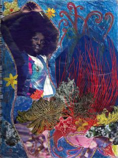 Mermaid art by Enfant de Feu afro african