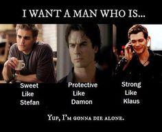 Mmmm vampires.... More damon and klaus than stefan though(more like matt)