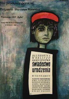By Jan Mlodozeniec,1 9 6 1, Birth Certificate (by St. Rozewicz, a Polish film).  ~  Repinned via Ielle Laflamme