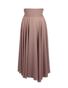 Jupe longue fluide Taupe muscade - Repetto