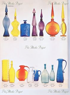 1962 - The Blenko project : Advocate for growth and preservation of Blenko glass Glass Candle, Glass Art, Blenko Glass, Rainbow Glass, Antique Glassware, Amber Glass, Glass Collection, Milk Glass, Preserves