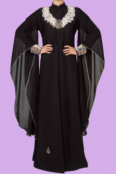 Abaya wedding of the United Arab Emirates Abaya Fashion, Modest Fashion, Hijab Abaya, Moslem Fashion, Black Abaya, Abaya Designs, Muslim Dress, Islamic Fashion, Modest Outfits