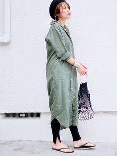 Fashion Illustration - Tips Long Shirt Outfits, Maxi Outfits, Casual Outfits, Dress Over Pants, Denim Jacket With Dress, Japan Fashion Casual, Modest Fashion, Kimono Fashion, Hijab Fashion