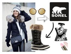 """""""Tame Winter with SOREL: Contest Entry"""" by zeineb2108 ❤ liked on Polyvore featuring SOREL, Linda Farrow, Bond No. 9 and sorelstyle"""