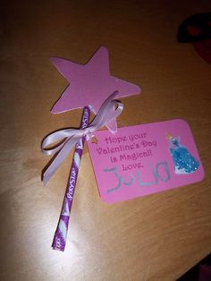 Made these Pixie Stick Wand Valentines with my 4-year-old princess!