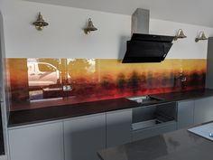 Black Hexagon Tile, Hexagon Tiles, Glass Kitchen, Kitchen Backsplash, Glass Wall Art, Glass Etching, Kitchen Design, Glass Splashbacks, Interior Design