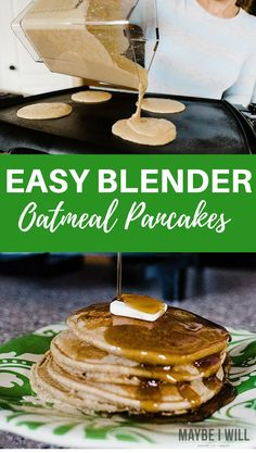 These delicious and mouthwatering blender oatmeal pancakes are rich with healthy and nutritious ingredients make them one powerful pancake!