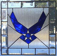 Air Force Logo Bevel Stained Glass Panel  $75.00