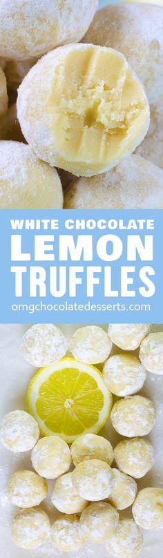 These easy Lemon Truffles with white chocolate will melt-in-your-mouth! Three ingredients, no baking required, and you'll have recipe for perfection.