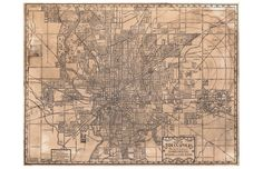 """Totally love this """"alternate history"""" map of Indianapolis"""