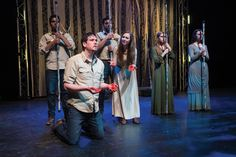 A scene from the Utah Shakespeare Festival's 2015 Shakespeare-in-the-Schools touring production of Macbeth. (Photo by Karl Hugh. Copyright Utah Shakespeare Festival 2015.) http://bard.org/education/tour.html#.VLmGxsZ8yS0
