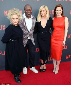 The whole gang! Unbreakable Kimmy Schmidt stars Carol Kane, Titus Burgess, Jane, and Ellie Kemper stepped out in style for the event